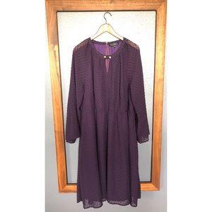 Eloquii Plum Swiss Dot Dress